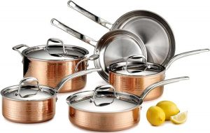 Copper Stainless Steel Cookware Set - lagostina copper cookware
