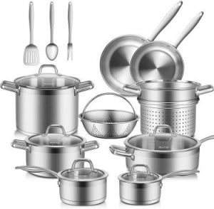 Duxtop Professional Stainless Steel Pots and Pans Set