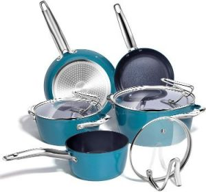 REDMOND Nonstick Cookware Set with Glass Lid and Stay Cool Handle