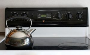 Teapot and Induction Stovetop