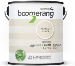 Boomerang Eco-Friendly Interior Paint - Eggshell Finish (Cotton)