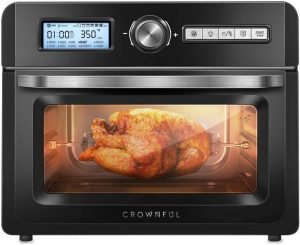 CROWNFUL 19 Quart/18L Air Fryer Toaster Oven With Cookbook - best countertop convection oven with rotisserie