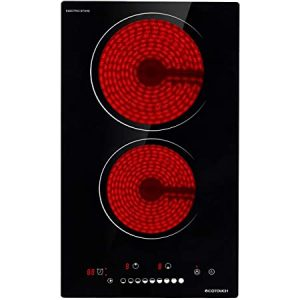 ECOTOUCH 30 Inch Radiant Cooktop - Best 4 Burner Smoothtop Electric Cooktop