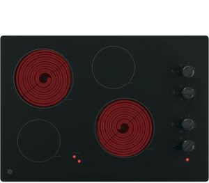 GE JP3030DJBB 30 Inch Smoothtop Electric Cooktop with 4 Radiant Elements