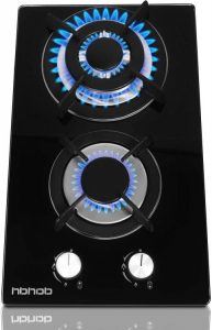 HBHOB 12 Inches Gas Stove High Gas Cooktop - 2 Burners Gas Range Double Burner Gas Stoves