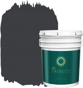 KILZ TRIBUTE Interior Matte Paint and Primer in One, 5 Gallon, Deep Onyx (TB-40)
