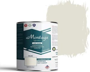 Montage Signature Interior Exterior Eco-Friendly Paint - Snow White with Low Sheen