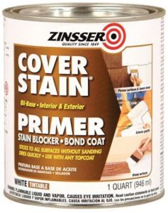 Zinsser 03504 Cover Stain Interior Exterior Oil Primer Sealer - 1 Quart