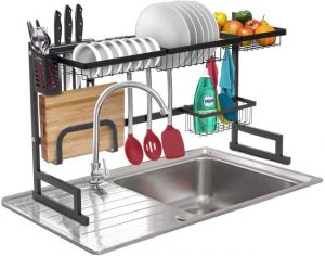 Sorbus Over-The-Sink Dish Drying Display Rack Stand